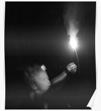 """Sparkler Fun 6""  by Carter L. Shepard Poster"