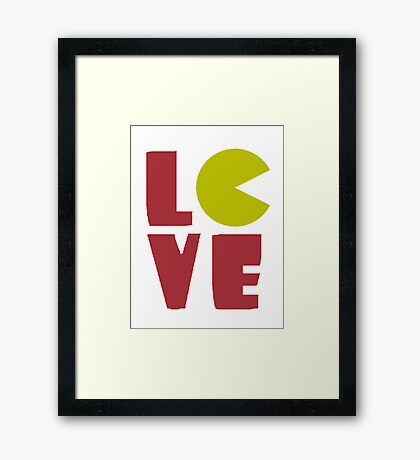 Gamer LOVE Framed Print