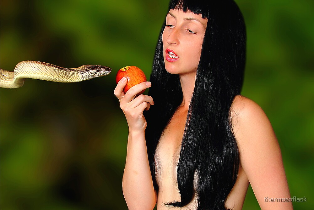 Eve the Serpent and the Apple by thermosoflask
