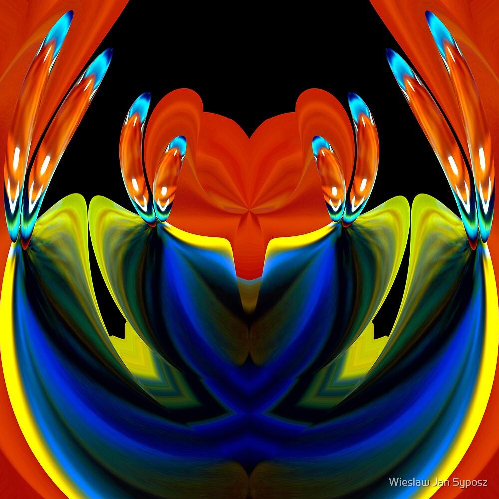 just red-yellow & blue by Wieslaw Jan Syposz