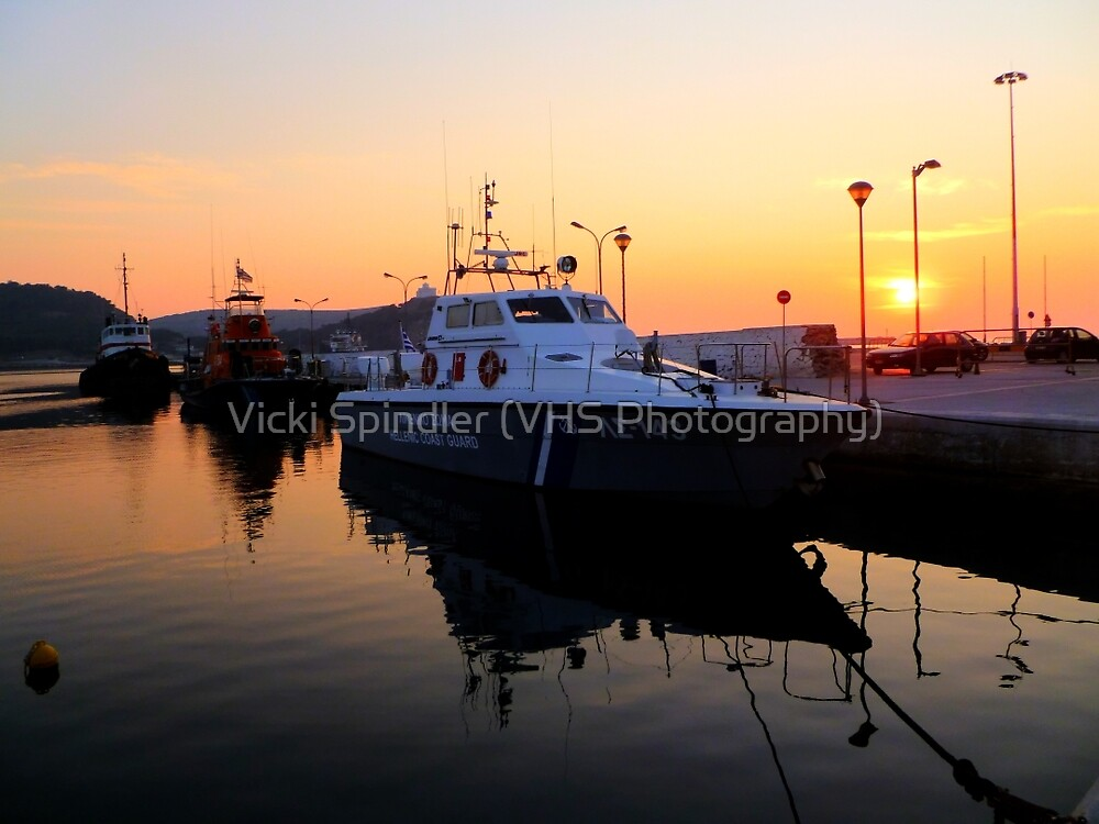 Coast Guard Sunset by Vicki Spindler (VHS Photography)