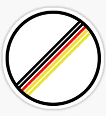 German Flag No Speed Limit Sticker