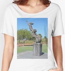 Mermaid statue, Broome, Western Australia Women's Relaxed Fit T-Shirt