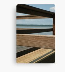 Wooden Lines Canvas Print