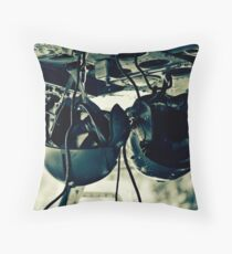 Helicopter Helmets Throw Pillow