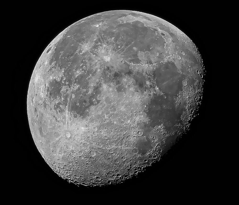 Moon Shot  Waning Gibbous by Bill  Watson