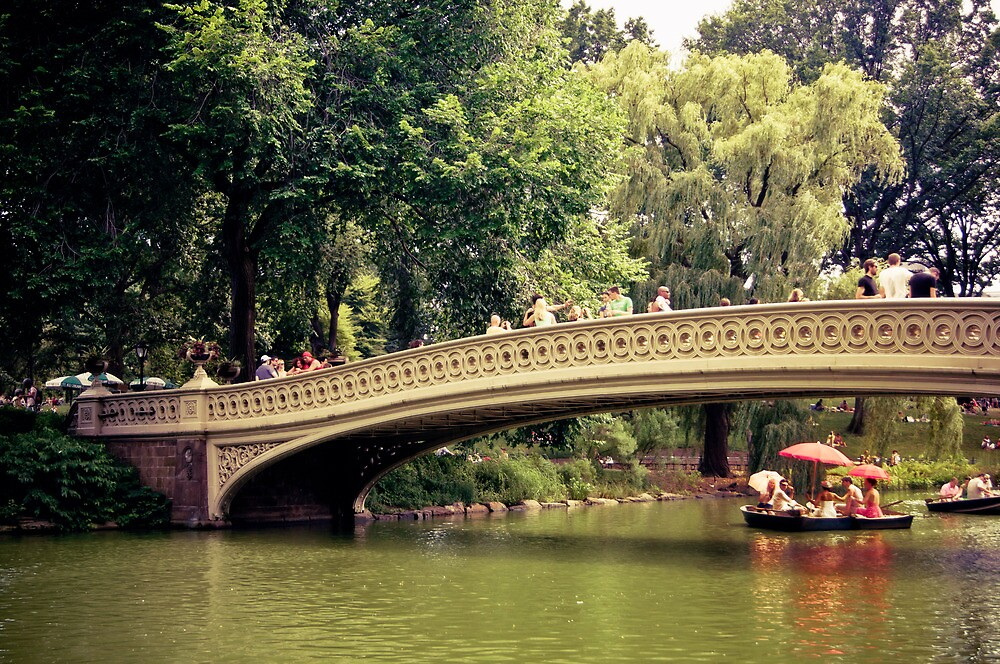 New York City Romance - Bow Bridge - Central Park  by Vivienne Gucwa