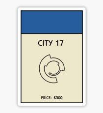 City 17 Monopoly (Half Life 2) Sticker