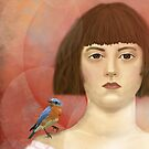 Blue Bird on my shoulder by WickedlyLovely