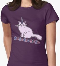 BOSS ASS CATICORN Women's Fitted T-Shirt