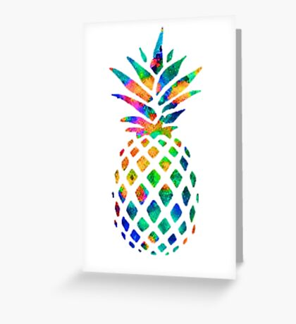 Rainbow Pineapple Greeting Card