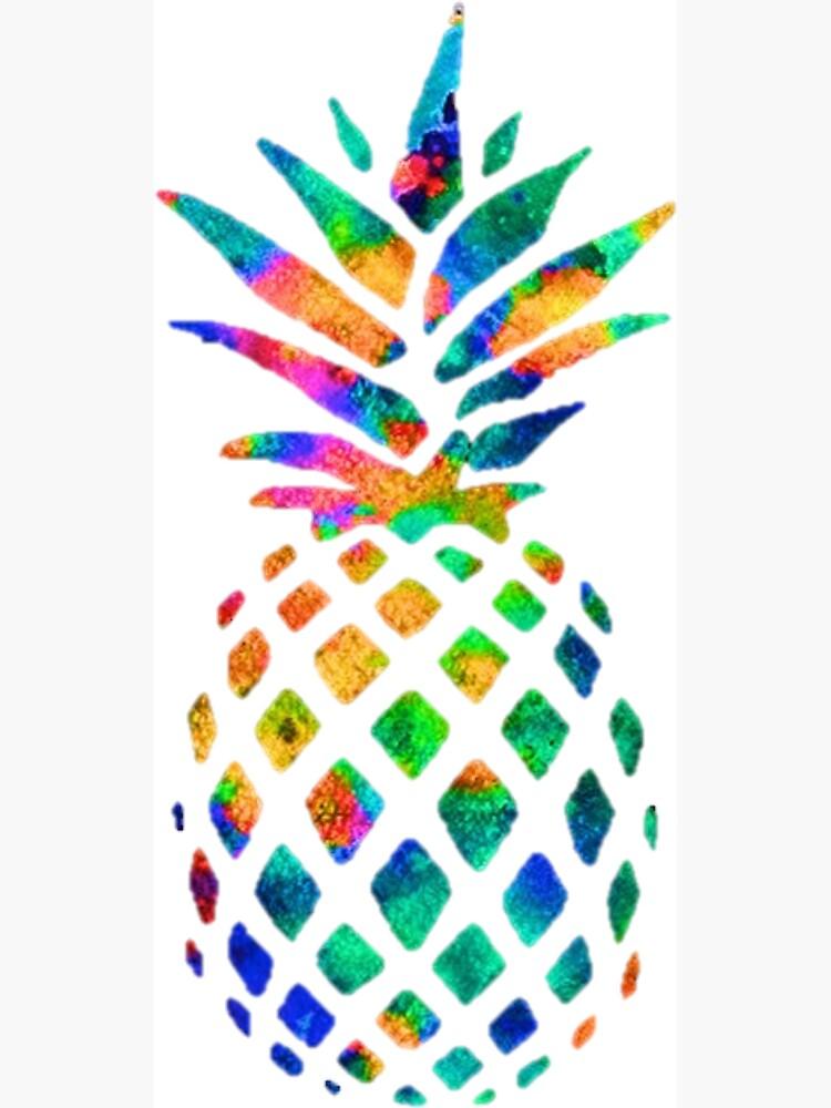 Regenbogen Ananas von erinaugusta