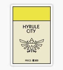 Hyrule City Monopoly (The Legend of Zelda) Sticker