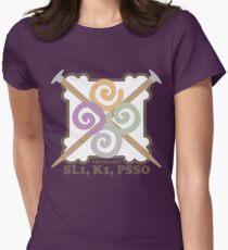 Secret code knitting needles yarn emblem Womens Fitted T-Shirt