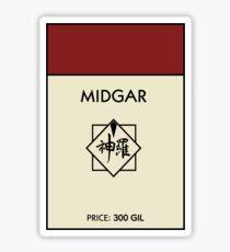 Midgar Monopoly (Final Fantasy VII) Sticker