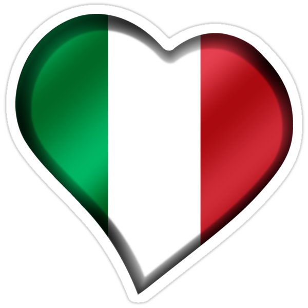 Quot Italian Flag Italy Heart Quot Stickers By Graphix Redbubble