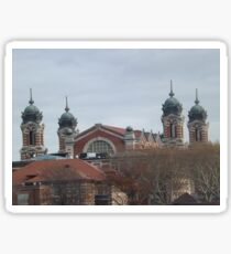 Classic Architecture, Ellis Island, View from Liberty State Park, New Jersey Sticker