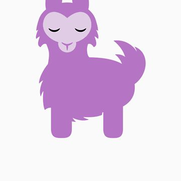 Cute Purple Alpaca by blackunicorn
