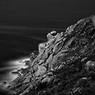 Bluff Rocks at Night by Gavin Kerslake