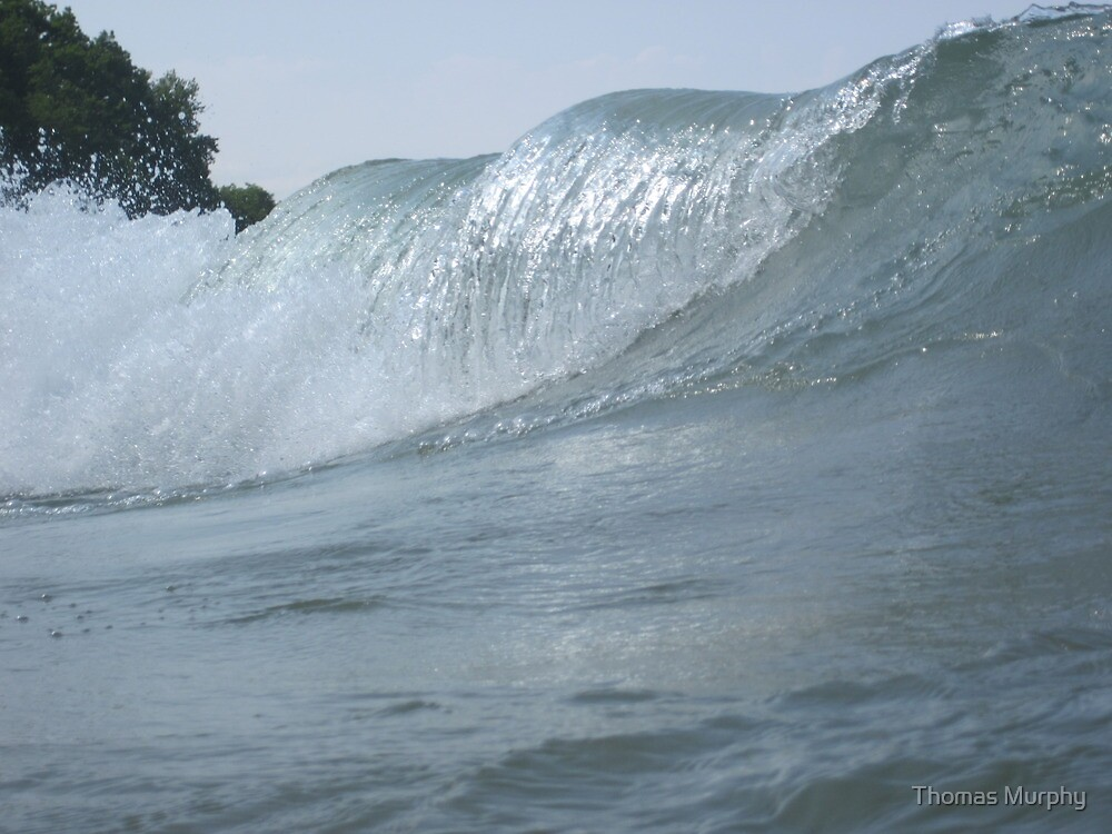 Surfs Up in Whitefish Bay Wisconsin by Thomas Murphy