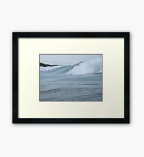 Surfs up in Whitefish Bay Wisconsin Img 406 Framed Print
