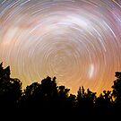Flinders Ranges Star Trail #1 by Michael Selge