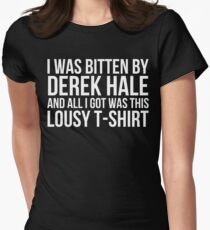 I was bitten by Derek Hale... - black text T-Shirt