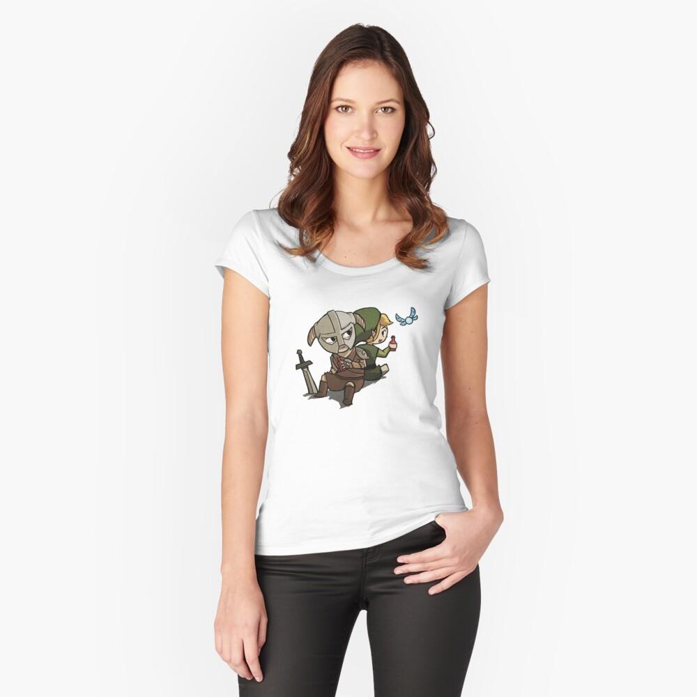 Skyim-Legend of Zelda Women's Fitted Scoop T-Shirt Front