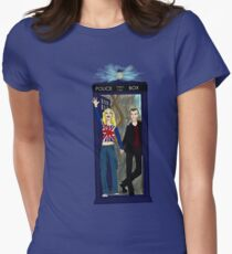 Nine and Rose Meet the Universe Women's Fitted T-Shirt