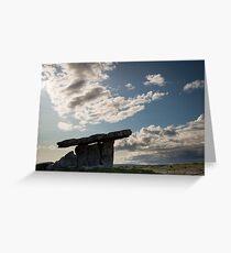 Dolmen silhouette Greeting Card