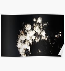 """""""Fire Works 1""""  by Carter L. Shepard Poster"""