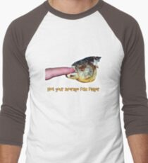 Not your average fish finger Men's Baseball ¾ T-Shirt