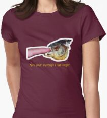 Not your average fish finger Women's Fitted T-Shirt