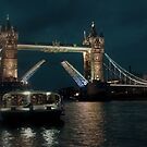 Tower Bridge and River Boat by KarenM