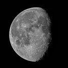 The Moon 78% Waning Gibbous July 8 2012 by Bill  Watson