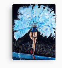 Burlesque - Derrier in Blue Canvas Print