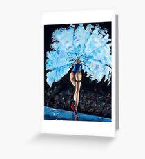 Tarjeta de felicitación Burlesque - Derrier in Blue