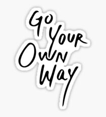 Go Your Own Way | Travel/Adventure Typography Sticker
