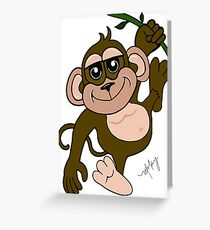 Spunky Monkey Greeting Card
