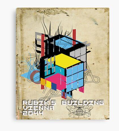 Rubik's building - Vienna 2044 Canvas Print