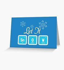 Tarjeta de felicitación Let It Snow Science