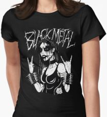 Black Metal Chick Womens Fitted T-Shirt