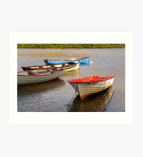 Fishing Boats In The Evening Sun Art Print