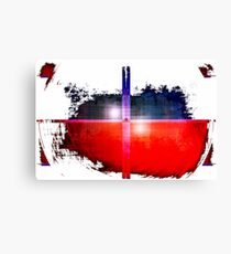 Red and Blue on White Canvas Print