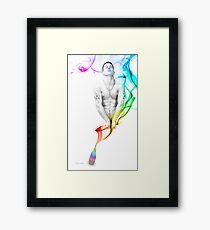 Genie Day - gay art male art Framed Print