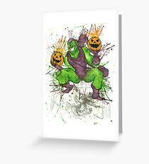 Green Goblin Greeting Card