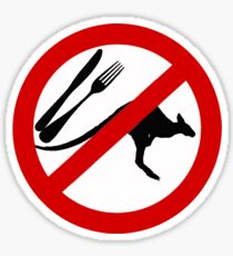 Don't eat Kangaroos Sticker