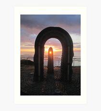 Donegal Sunset, Celtic Beams, July 2012 Art Print
