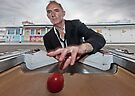 tim andrews - the red ball by Heather Buckley