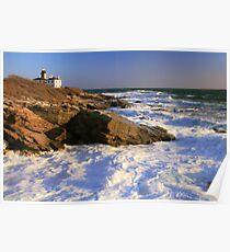 Beavertail Point Lighthouse Seascape Poster